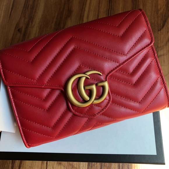 6017bec86e37f3 Gucci Bags   Marmont Red Woc   Poshmark